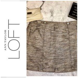 NWT Loft Metallic Tweed Skirt 16
